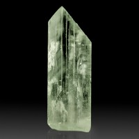 "2.3"" 154ct Pleochroic GREEN HIDDENITE Crystal Double Termnated Pakistan for sale"