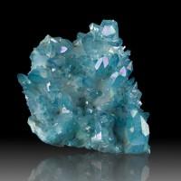 "4.2"" Iridescent Neon Blue Gem AQUA AURA QUARTZ Crystal Cluster Arkansas for sale"