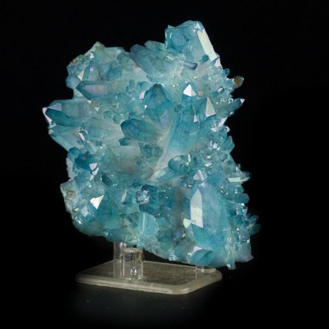 4 2 Quot Iridescent Neon Blue Gem Aqua Aura Quartz Crystal