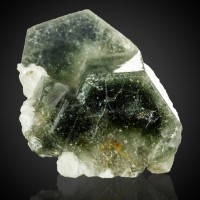 "1.3"" Dark Green PHANTOM APATITE Sharp Clean Crystals Sapo Mine Brazil for sale"