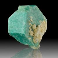 "4.2"" Rare Baveno Twin AMAZONITE Vivid Turquoise Blue Crystal Ethiopia for sale"