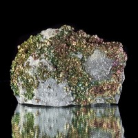 "5.2"" Flashing Iridescent Gold CHALCOPYRITE Crystals on Matrix Missouri for sale"