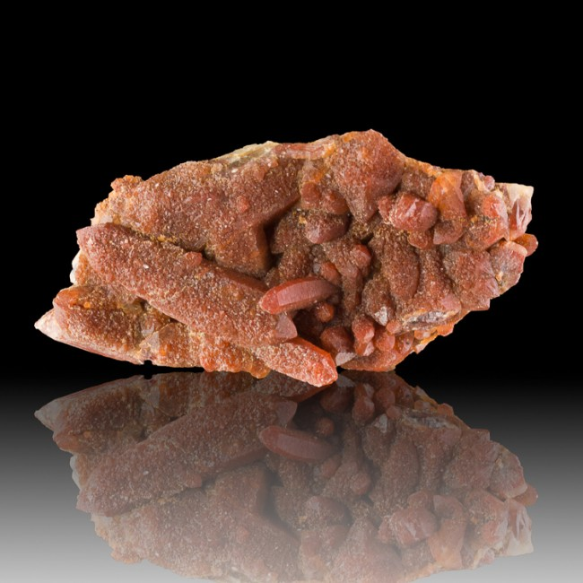 """8.4"""" Color Drenched RED QUARTZ 3 Generations of Crystallization Morocco for sale"""