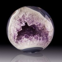 "4.6"" Diameter AGATE & AMETHYST Polished Sphere w/Laughing Mouth Brazil for sale"