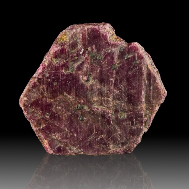 """1.7"""" 210ct BurgundyRed RECORD KEEPER RUBY Crystal RaisedTriangles India for sale"""