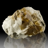 "3.6"" Gemmy HoneyBrown Phantom FLUORITE Crystals w/ White CELESTITE Ohio for sale"
