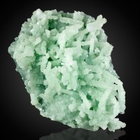"5.6"" PREHNITE FINGERS w/Perimorph Crust of Mint Green APOPHYLLITE India for sale"