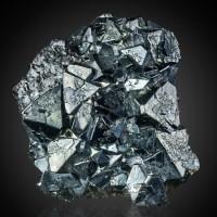 "2.1"" Wet-Look Metallic Silver CUPRITE Sharp Crystals to .6"" Rubtsovskiy M Russia"