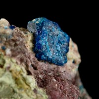 4mm ShinyDarkBlue PSEUDOBOLEITE Epitaxial on Boleite Amelia Mine Mexico for sale