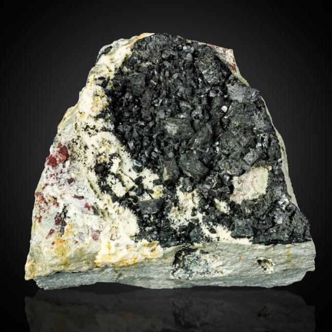 "4.2"" Sharp Jet Black BABINGTONITE Cubic Crystals to 12mm Deerfield MA for sale"