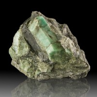 "3.5"" Large, Sharp GREEN EMERALD CRYSTALS to 2"" in Dark Matrix Brazil for sale"