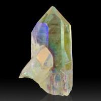 "3.5"" Shiny OPAL AURA QUARTZ Sharp Crystals Infused w/Platinum Arkansas for sale"