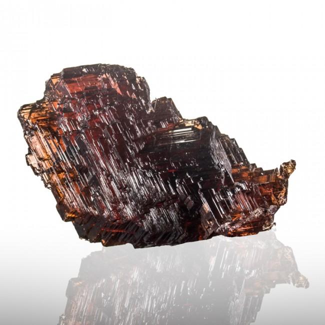 "1.3"" 78ct Deep Red Gem SPESSARTINE GARNET Crystal w/Stair Steps Brazil for sale"