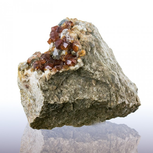 "2.8"" Gemmy SPESSARTINE GARNETS RichRedOrange Color w/Smoky Quartz China for sale"