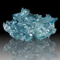 "4"" Rich Turquoise AQUA AURA QUARTZ Lrg Cluster Sharp Gemmy Crystals ARK for sale"