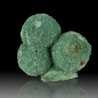 """2.7"""" STILBITE Crystals 3 Saturated Teal Green Round Balls to 1.4"""" India for sale"""