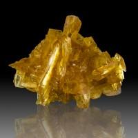 """3.4"""" Transparent Gem GOLDEN SELENITE Sharp Wet-Look Crystals Ica Peru for sale"""