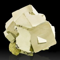 """2.4"""" Brassy Golden PYRITE Sharp Brilliant Cubic Crystals to 1.1"""" Peru for sale"""