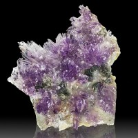 "5.2"" Flashy Purple & Lavender Radiating AMETHYST FLOWER Crystals Brazil for sale"