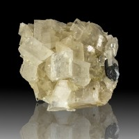 """3.6"""" Sharp Clear Shiny MAGNESITE Crystals w/1"""" MAGNETITE Crystal Brail for sale"""
