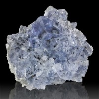 "2.2"" Sky Blue Gem Clear FLUORITE Crystals Chalcopyrite Inclusions Spain for sale"