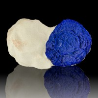 "1.9"" Sapphire Blue AZURITE SUN on 3.4"" White Siltstone Matrix Australia for sale"
