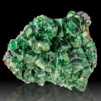"5.6"" Lustrous Dark Blue Green FLUORITE Glassy Crystals Rogerly Mine UK for sale"