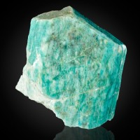 "3.8"" Rich Aqua Blue AMAZONITE White Cap Crystal from Crystal Peak CO for sale"