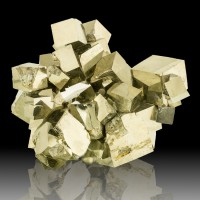 """4.3"""" Flashy Mirror Bright 32 Golden Cubic PYRITE Crystals to 1.1"""" Spain for sale"""