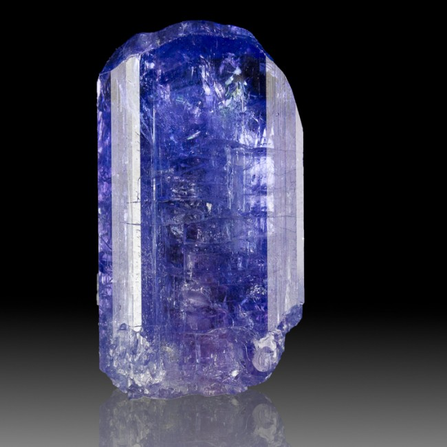 "1.3"" 73.9ct Gemmy Crystal TANZANITE Terminated Cornflower Blue Tanzania for sale"