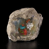 "2"" GEM OPAL w/Red-Orange-Green-Turquoise Color Flashes Welo Ethiopia for sale"
