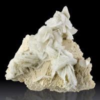 "5"" Clear Gem CLEAVELANDITE Bladed Crystal Rosettes on Microcline Brazil for sale"