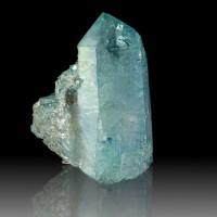 "3.8"" Flashy Iridescent AQUA AURA QUARTZ Crystal Dbl Terminated Floater for sale"