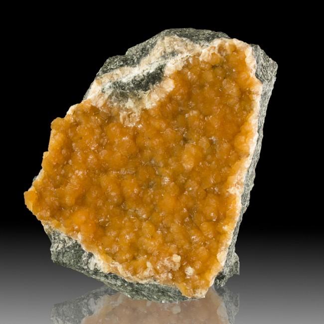 """6.1"""" Saturated Red-Orange STILBITE Crystals on Basalt Moore's Corner NJ for sale"""