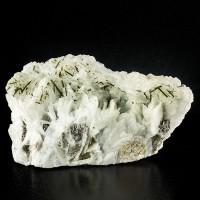 """7.1"""" Gem GREEN TOURMALINE on Pale Blue CLEAVELANDITE Crystals Brazil for sale"""