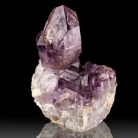 "3.4"" SCEPTER AMETHYST Crystal w/Wispy Purple Phantoms +Enhydros Namibia for sale"