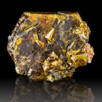 "1.1"" Superb Honey Orange Brown Glassy BASTNAESITE-Ce Crystal Pakistan for sale"