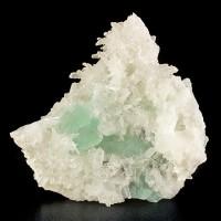 """5.6"""" SeaFoam Green FLUORITE Crystals w/SpikySharp Porcupine Quartz Peru for sale"""