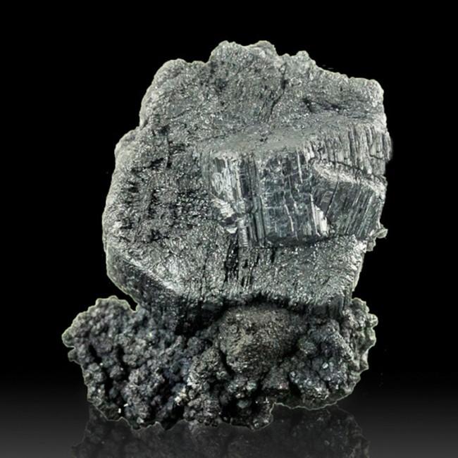 "1.7"" COG WHEEL BOURNONITE ShinySilverGray Crystals on ACANTHITE Bolivia for sale"