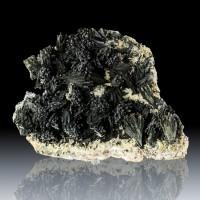 """7.1"""" Radiating SCHORL TOURMALINE Crystals on Quartz Mexico ex-U of AZ for sale"""