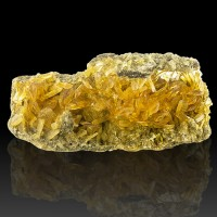 """5.7"""" Bright GOLDEN SELENITE Sharp Shiny Gem Clear Twinned Crystals Peru for sale"""