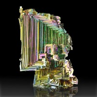 "2.3"" Deeply Hoppered BISMUTH Crystals Flashy Flamboyant Rainbow Colors for sale"