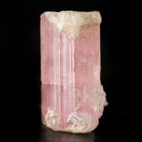 ".9"" 6.1ct PINK TOURMALINE Sharp Terminated WhiteCap Crystal Afghanistan for sale"