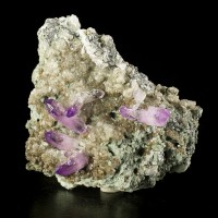 "3.6"" Matrix Piece Vivid Purple AMETHYST Sharp Gemmy Crystals Veracruz for sale"