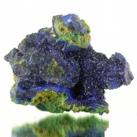 "4.3"" Vivid Blue AZURITE Sparkling Crystals on Matrix w/Malachite China for sale"