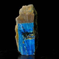 "8.6"" Polished Neon Blue LABRADORITE High Flash Iridescence Madagascar for sale"