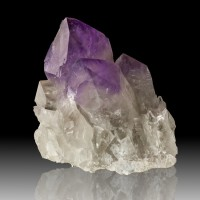 "6.2"" Big Gemmy PURPLE AMETHYST Group of 8 Terminated Crystals Bolivia for sale"