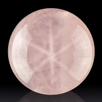 "1.8"" Diameter Asterated ROSE QUARTZ SPHERE Brite 6Point Star Madagascar for sale"