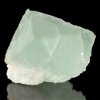"5.3"" Natural FLUORITE OCTAHEDRON Crystal Pastel Gem Green w/Quartz Peru for sale"