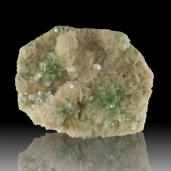 "4.6"" Gem Green DISCO BALL APOPHYLLITE Crystals on White STILBITE India for sale"